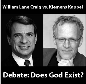 William Lane Craig vs. Klems Kappel - Debate: Does God Exist?