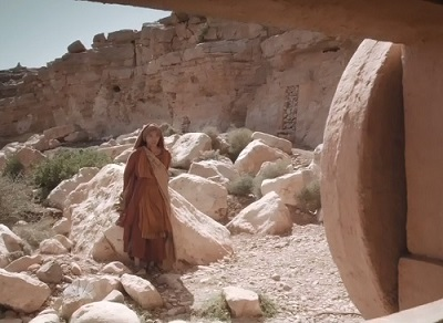 Mary Magdalene at the empty tomb