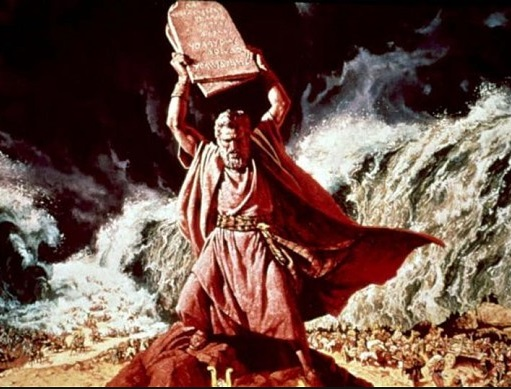 """Charlton Heston as moses - """"You are not worthy to recieve these commandments"""""""