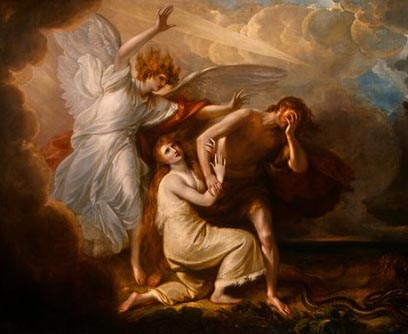 The Expulsion of Adam and Eve, Benjamin West 1731
