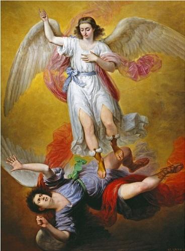 The Fall of Lucifer - Antonio María Esquivel y Suárez de Urbina, 1840