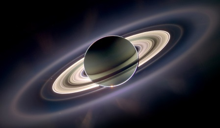 Saturn as seen from the Cassini space craft