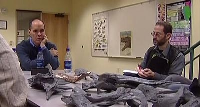 Scientists review recovered bones